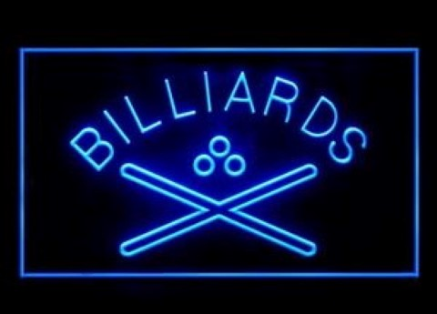 Billiards Hall Play Here LED Neon Sign