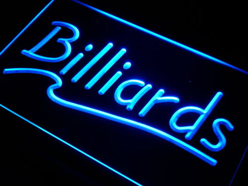 Billiards Pool Room Bar Neon Light Sign