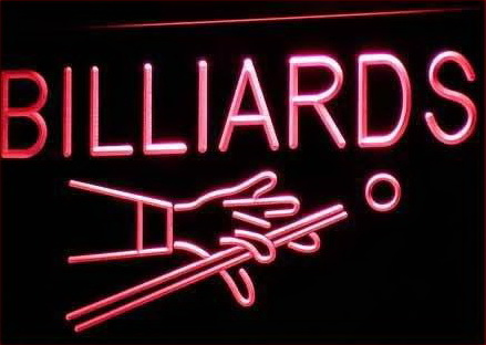 Billiards Pool Room Table LED Neon Sign