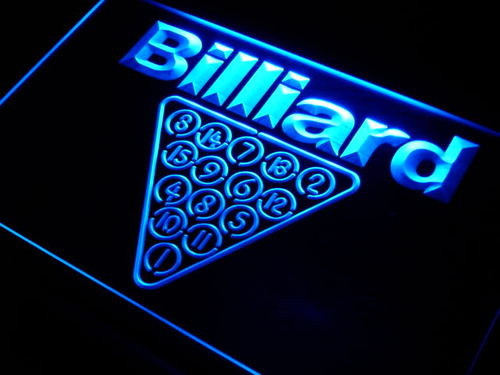 Billiards Room Neon Light Sign