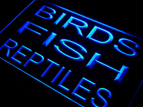 Birds Fish Reptiles Shop Neon Light Sign