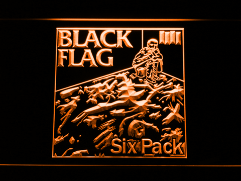 Black Flag Six Pack LED Neon Sign