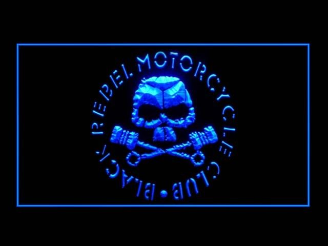 Black Rebel Motorcycle LED Sign