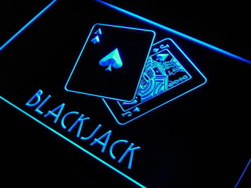 Blackjack Poker LED Neon Light Sign