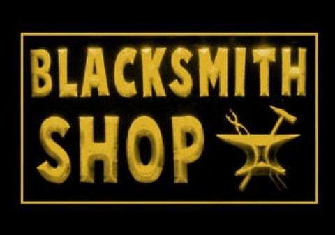 Blacksmith Shop LED Neon Sign