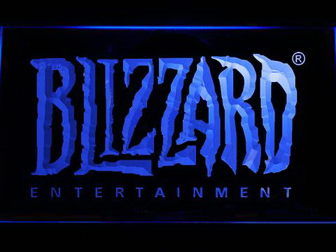 Blizzard Entertainment LED Neon Sign