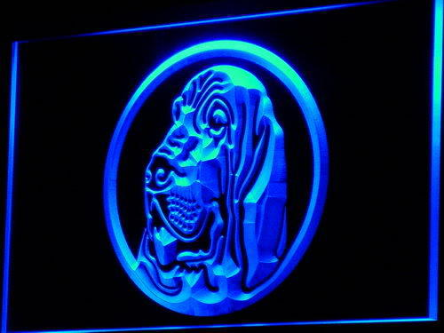 Bloodhound Dog Breed Pet Shop Neon Light Sign
