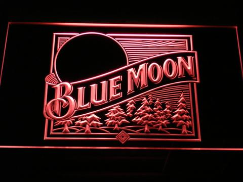 Blue Moon Old Logo LED Neon Sign