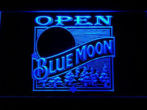 Blue Moon Old Logo Open LED Neon Sign