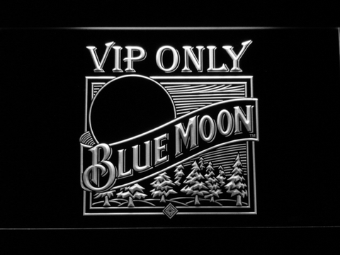 Blue Moon Old Logo VIP Only LED Neon Sign
