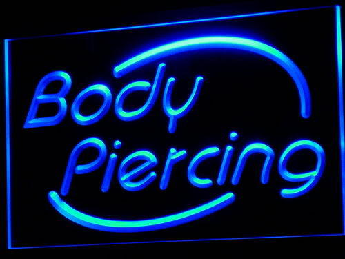 Body Piercing Tattoo Shop Display