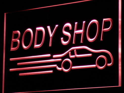 Body Shop LED Light Sign