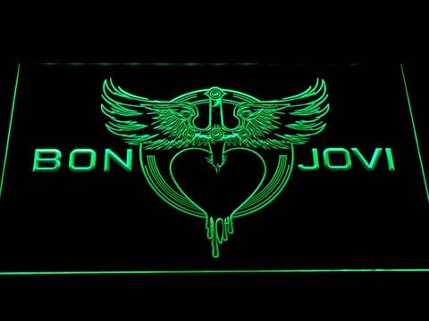Bon Jovi Heart and Dagger Logo LED Neon Sign