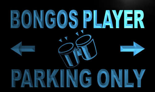 Bongos Player Parking Only Neon Light Sign