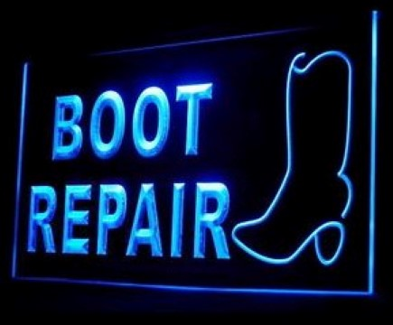 Boot Repair LED Neon Sign
