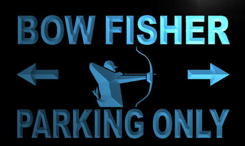 Bow Fisher Parking Only Neon Light Sign