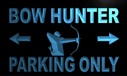 Bow Hunter Parking Only Neon Light Sign