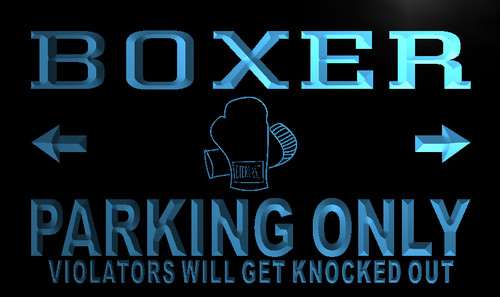 Boxer Parking Only Neon Light Sign