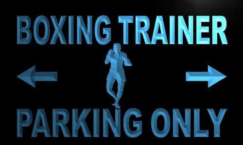 Boxing Trainer Parking Only Neon Light Sign