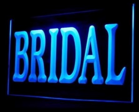 Bridal Dress Makeup Wedding Hairstyles LED Neon Sign