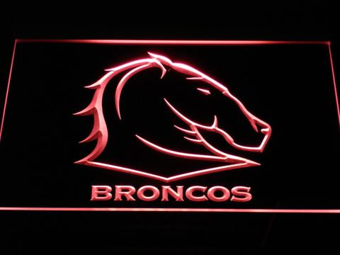 Brisbane Broncos 2 LED Neon Sign