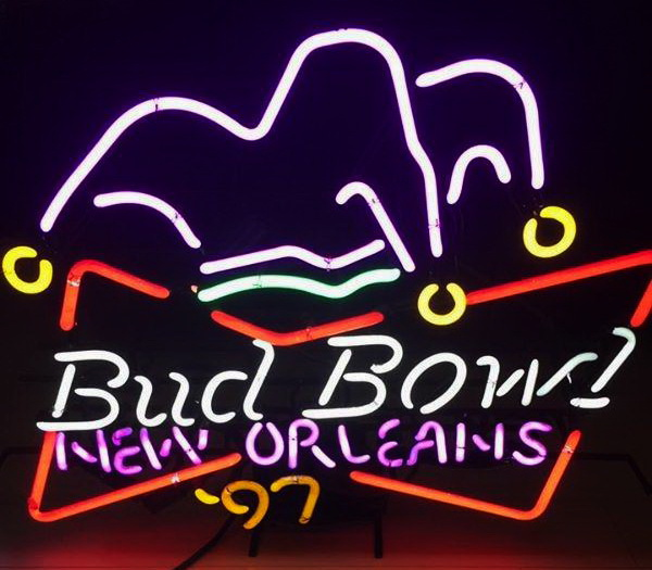 Bud Bowl New Orleans Neon Sign