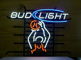 Bud Light Basketball Dunk Classic Neon Light Sign 17 x 14
