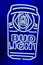 Bud Light Beer Can Neon Sign