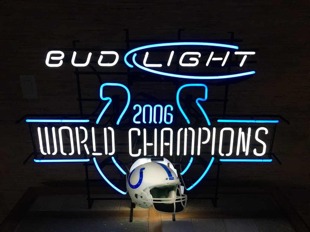 Bud Light Indianapolis Colts Neon Sign