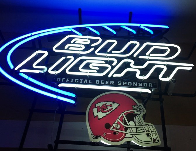 Bud Light Kansas City Chiefs Neon Sign