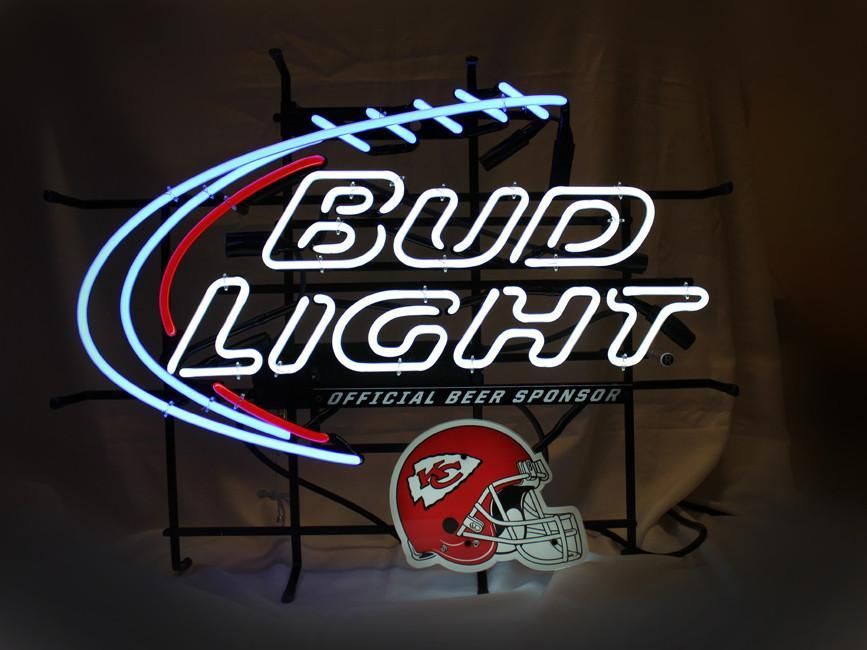 Bud Light Kansas City Football Neon Sign