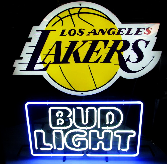 Bud Light Lakers Neon Sign
