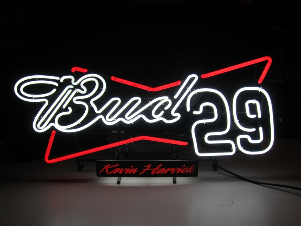 Bud Light NASCAR #29 Kevin Harvick Neon Light Sign 18x10