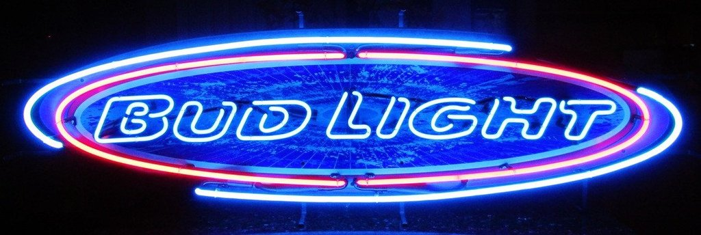Bud Light Oval Beer Neon Sign