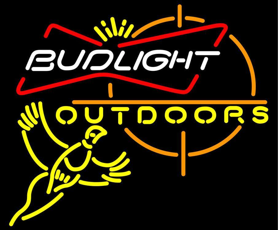 Bud Light Pheasant Outdoors Neon Sign