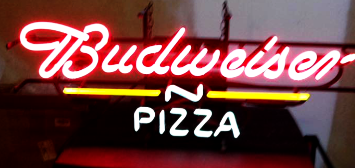 Bud Light Pizza Neon Sign