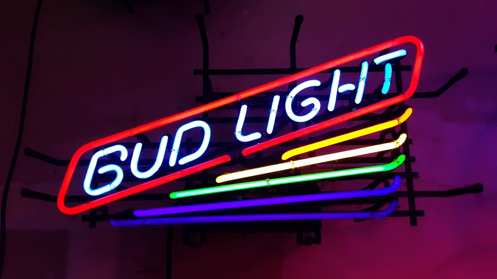 Bud Light Rainbow Neon Sign
