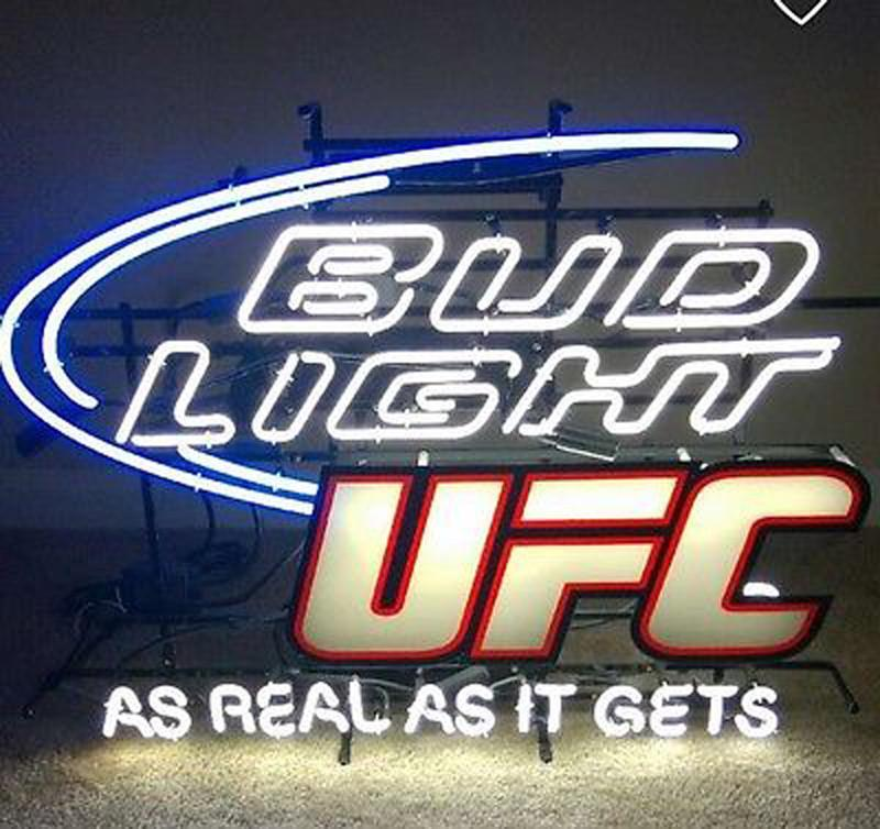 Bud Light Real As It Gets Neon Sign