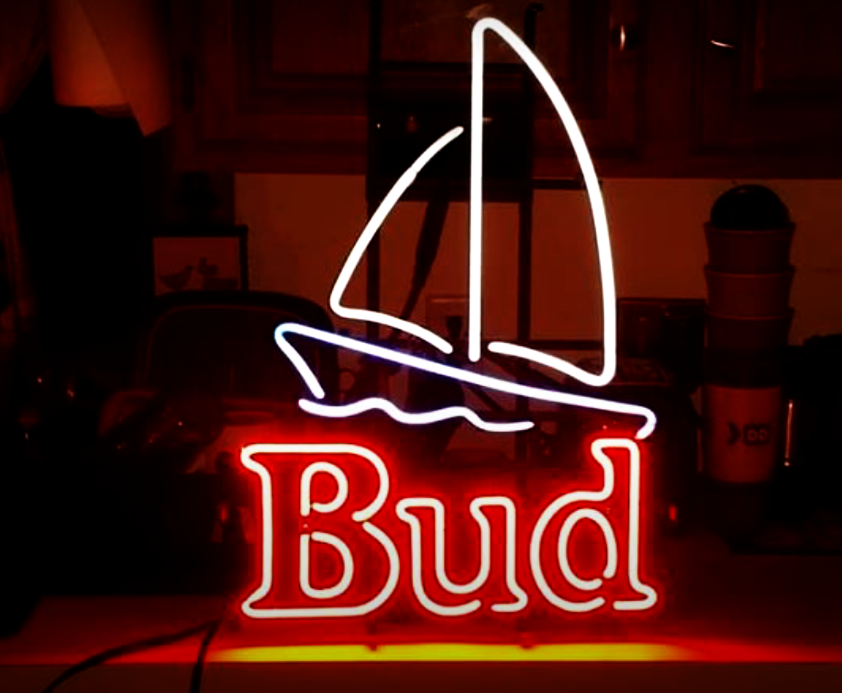 Bud Light Sailing Boat Neon Sign