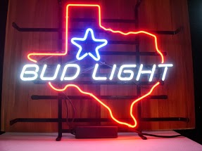 Bud Light Texas Star Classic Neon Light Sign 17 x 14