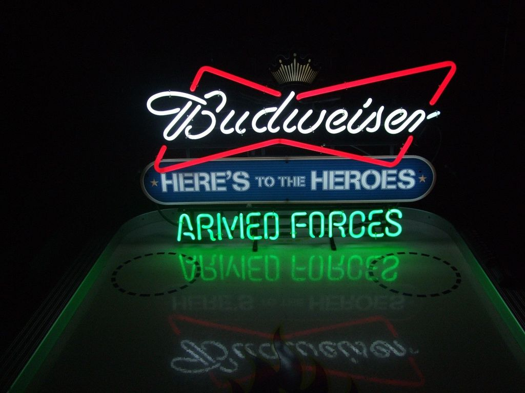 Budweiser Armed Forces Neon Sign 2