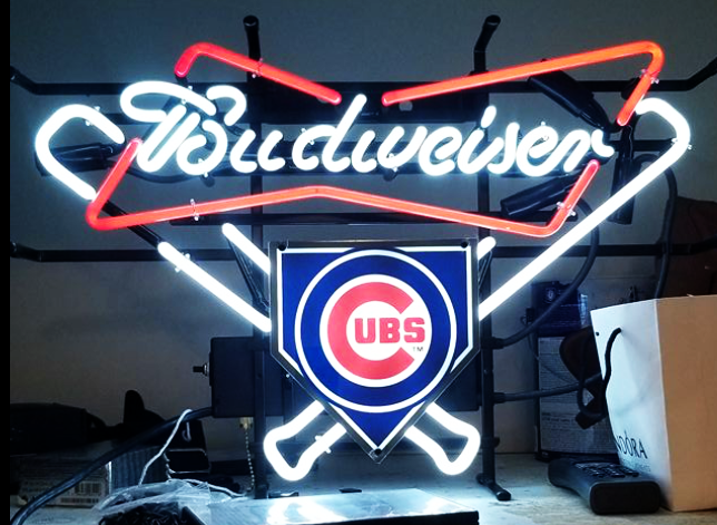 Budweiser Chicago Cubs MLB Sports Neon Sign