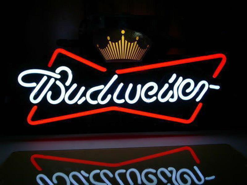Budweiser Crown Beer Lager Neon Sign