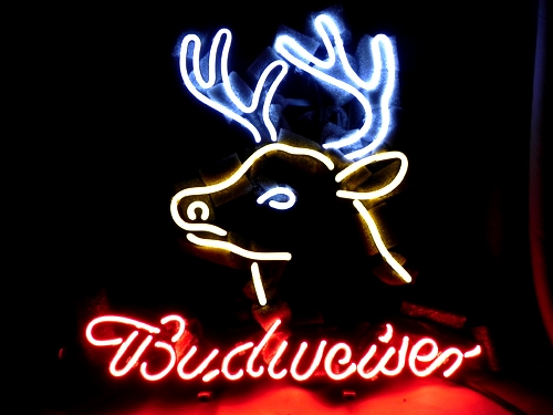 Budweiser Deer Beer Bar Classic Neon Light Sign 16 x 15