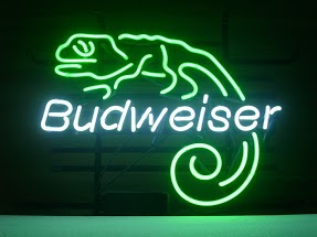 Budweiser Lizard Green Classic Neon Light Sign 17 x 14