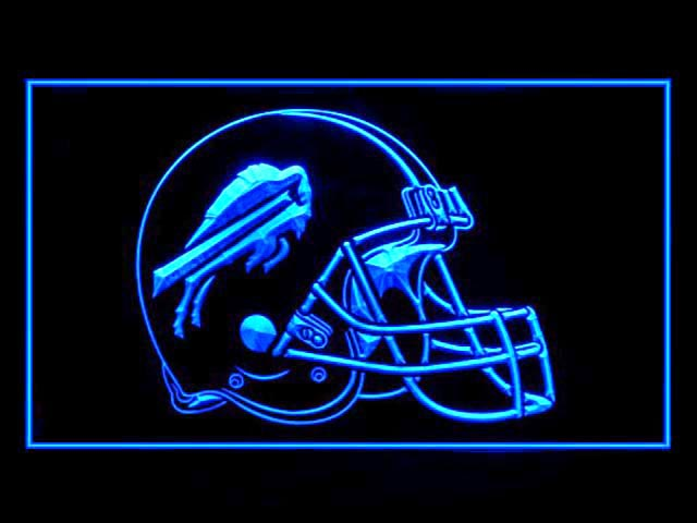 Buffalo Bills Helmet Display Led Light Sign
