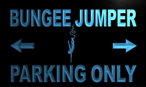 Bungee Jumper Parking Only Neon Light Sign