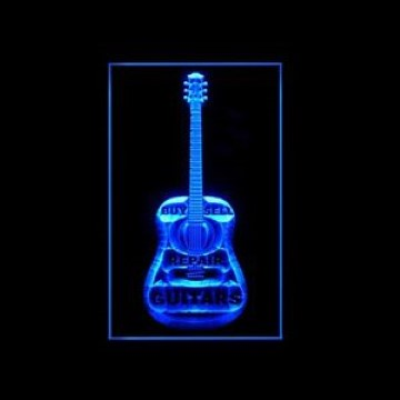Buy Sell Repair Guitar LED Neon Sign
