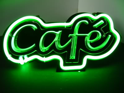 CAFE Green Neon Shop Cafe Bar Mancave Sign