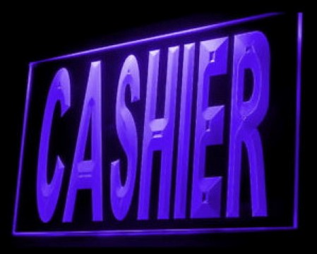 CASHIER Customers Pay here LED Neon Sign